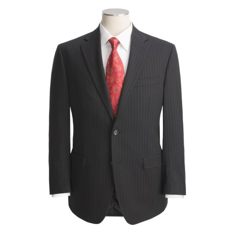 Lauren by Ralph Lauren Beaded Stripe Suit - Wool (For Men) in Black