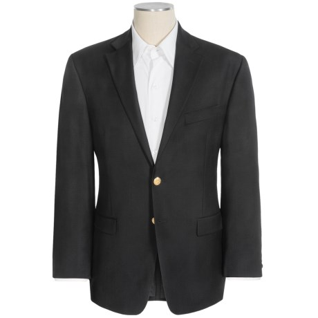 Lauren by Ralph Lauren Black Wool Blazer (For Men) in Black W/Gold Button