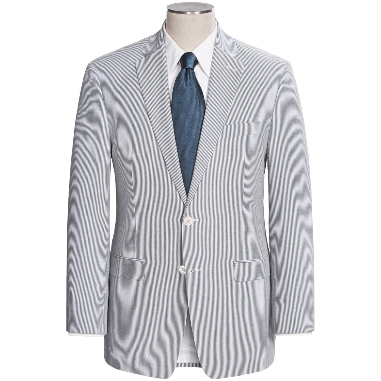 lauren by ralph lauren cotton seersucker suit for men. Black Bedroom Furniture Sets. Home Design Ideas