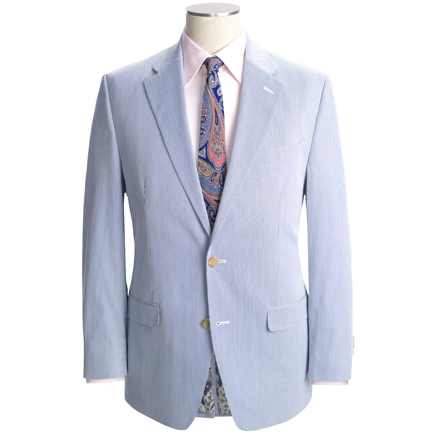 Pin Seersucker-suit-blue-tan-or-grey-available-in-big-and ...