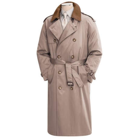 Lauren by Ralph Lauren Double-Breasted Trench Coat (For Men) in Black