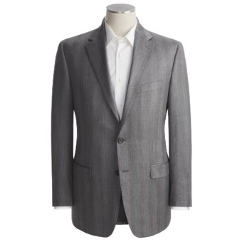 Lauren by Ralph Lauren Herringbone Sport Coat - Silk-Wool (For Men) in Charcoal