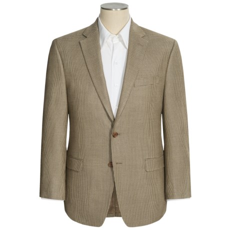 Lauren by Ralph Lauren Houndstooth Sport Coat - Silk-Wool (For Men) in Tan/Cream