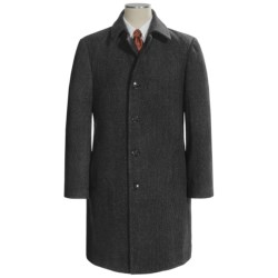 Lauren by Ralph Lauren Ivy Top Coat - Wool Twill (For Men) in Charcoal Tic Weave