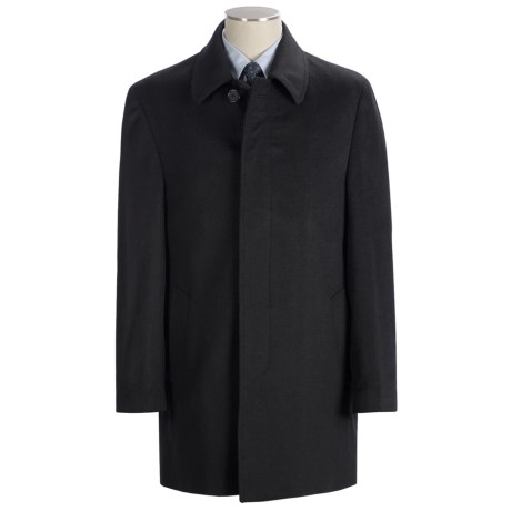 Lauren by Ralph Lauren Jake Topcoat - Wool (For Men) in Black