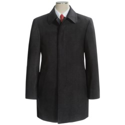 Lauren by Ralph Lauren Jake Topcoat - Wool (For Men) in Brown Plaid