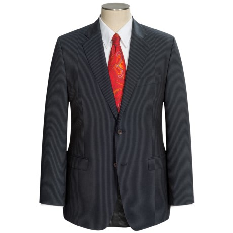 Lauren by Ralph Lauren Laghorn Stripe Suit - Slim Cut, Wool (For Men) in Black
