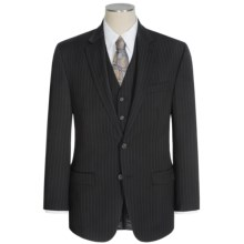 Lauren by Ralph Lauren Lahey Pinstripe Suit - 3-Piece (For Men) in Black - Closeouts