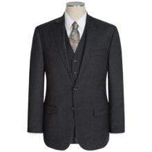 Lauren by Ralph Lauren Lexington Houndstooth Suit - 3-Piece (For Men) in Charcoal/Black - Closeouts