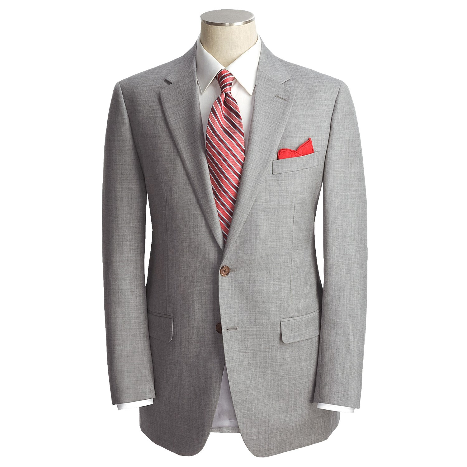 Suit in Light Grey Wool & Mohair If your jacket size is in stock, and your pant size is out-of-stock please get in touch over email at custom@cuttackfirstboutique.cf and we will organize production for you. This suit is also available for custom orders.