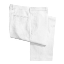 Lauren by Ralph Lauren Linen Pants - Flat Front (For Men) in White