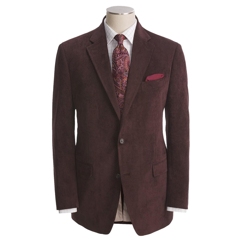 Product Description Birdseye fancy tailored fit 2-button side vent notched lapel sport coat.