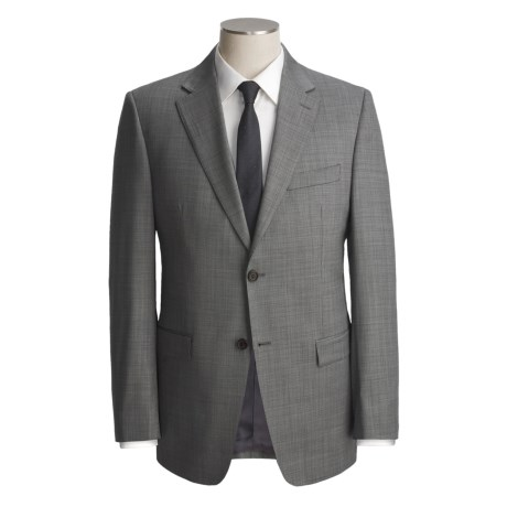 Lauren by Ralph Lauren Neat Trim Fit Suit - Wool (For Men) in Black/White