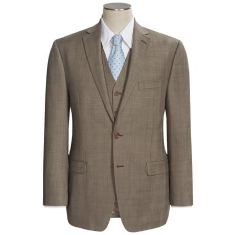 Lauren by Ralph Lauren Plaid Suit - Wool, 3-Piece (For Men) in Olive