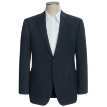 Lauren by Ralph Lauren Slim Fit Herringbone Sport Coat - Wool (For Men) in Navy - Closeouts