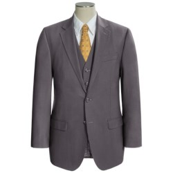 Lauren by Ralph Lauren Solid Suit - Wool, 3-Piece (For Men) in Grey