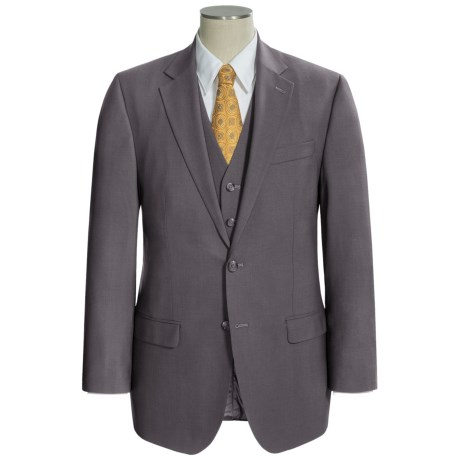 Lauren by Ralph Lauren Solid Suit - Wool, 3-Piece (For Men) in Light Brown
