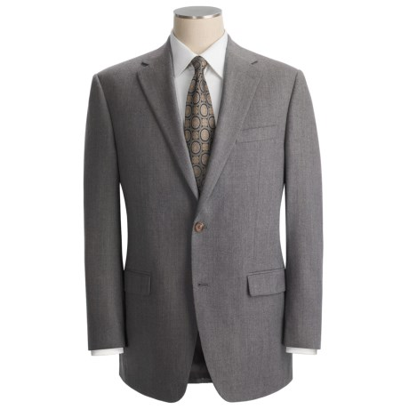 Lauren by Ralph Lauren Solid Suit - Wool Flannel (For Men) in Light Grey