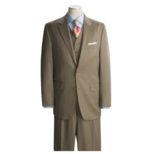 Lauren by Ralph Lauren Solid Taupe Suit - Wool, 3-Piece (For Men) in Taupe - Closeouts