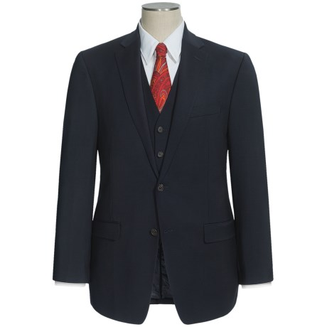 Lauren by Ralph Lauren Stretch Suit - Wool, 3-Piece (For Men) in Dark Navy