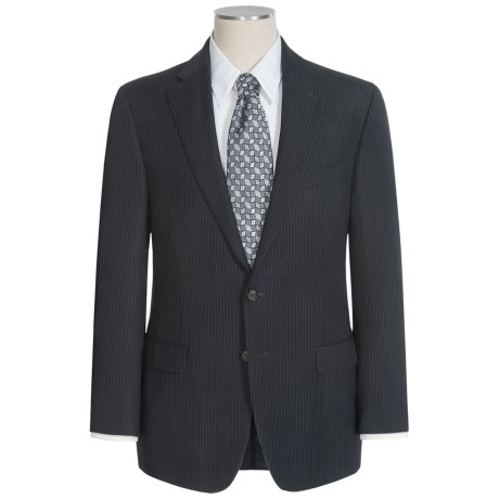 Lauren by Ralph Lauren Stripe Suit - Wool (For Men) in Black/Thin Stripe