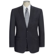 Lauren by Ralph Lauren Stripe Suit - Wool (For Men) in Black/Wide Stripe - Closeouts