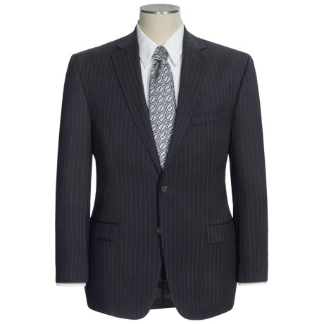 Lauren by Ralph Lauren Stripe Suit - Wool (For Men) in Black/Wide Stripe