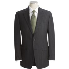 Lauren by Ralph Lauren Subtle Stripe Suit - Wool Flannel (For Men) in Black - Closeouts