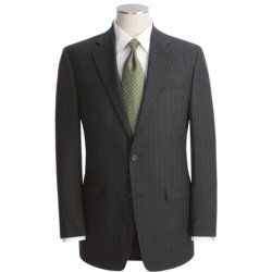 Lauren by Ralph Lauren Subtle Stripe Suit - Wool Flannel (For Men) in Black