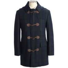 Lauren by Ralph Lauren Toggle Black Watch Plaid Duffle Coat - Detachable Hood in Navy/Green Plaid - Closeouts