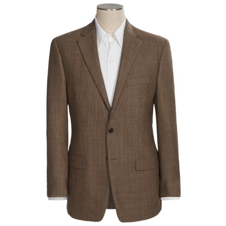 Lauren by Ralph Lauren Windowpane Plaid Sport Coat - Wool (For Men) in Tan