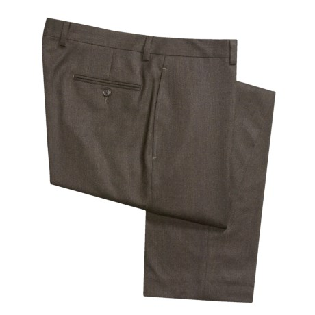 Lauren by Ralph Lauren Wool Flannel Dress Pants - Flat Front (For Men)