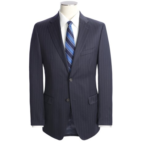 Lauren by Ralph Lauren Wool Pinstripe Suit  - Slim Cut (For Men) in Navy