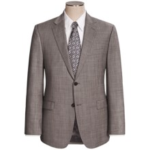 Lauren by Ralph Lauren Wool Sharkskin Suit - Slim Fit (For Men) in Charcoal - Closeouts