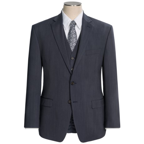 Lauren by Ralph Lauren Wool Stripe Suit - 3-Piece (For Men) in Navy