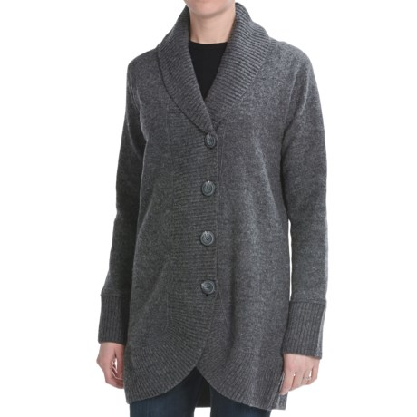 Lauren Hansen Boiled Wool Coat (For Women) in Black