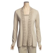 Lauren Hansen Cardigan Sweater - Linen-Cotton, Wooden Beads, Built-in Shell (For Women) in Linen - Closeouts