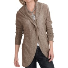 Lauren Hansen Cashmere Cocoon Cardigan Sweater - Hooded (For Women) in Brown - Closeouts