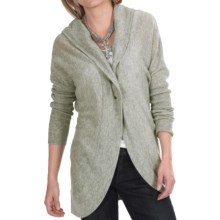 Lauren Hansen Cashmere Cocoon Cardigan Sweater - Hooded (For Women) in Light Grey - Closeouts