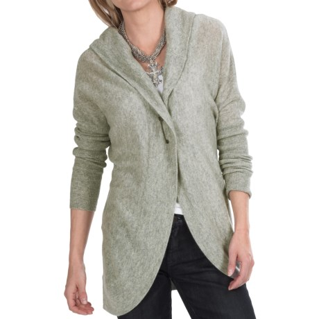Lauren Hansen Cashmere Cocoon Cardigan Sweater Hooded (For Women)