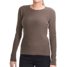 Lauren Hansen Cashmere Thermal Sweater - Crew (For Women) in Brown - Closeouts