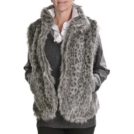 Lauren Hansen Faux-Fur Vest (For Women) in Grey Leopard