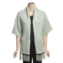 Lauren Hansen Fringed Kimono Scarf - Tape Yarn (For Women) in Eucalyptus - Closeouts
