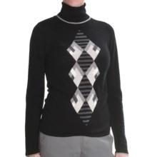 Lauren Hansen Merino Wool Argyle Sweater - Slim Fit (For Women) in Black/Grey - Closeouts