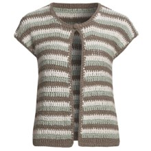 Lauren Hansen Striped Cardigan Sweater - Tape Yarn, Crocheted (For Women) in Multi - Closeouts