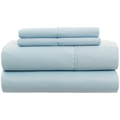 Laurence Cotton Sheet Set - Queen, 300 TC in Light Blue