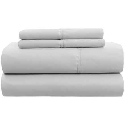 Laurence Cotton Sheet Set - Queen, 300 TC in Light Grey - Closeouts