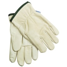 Laurentide Cowhide Work Gloves - Lined (For Men) in Cream - Closeouts