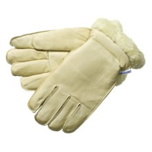 Laurentide Cowhide Work Gloves - Pile-Lined (For Men) in Cream - 2nds