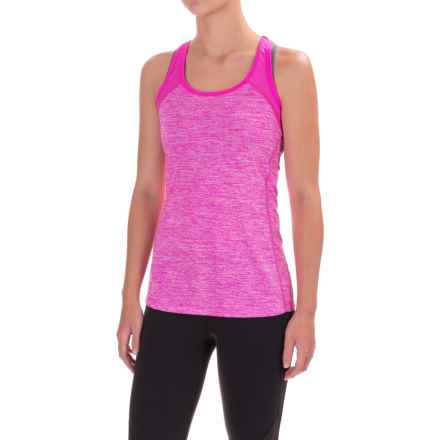 Layer 8 Accelerate Keyhole Tank Top (For Women) in Neon Flamingo Heather/Neon Flamingo - Closeouts